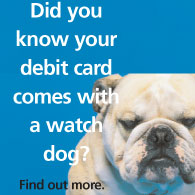 Did you know your debit card comes with a watch dog?